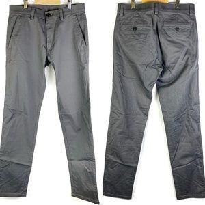 Haggar H26 Gray Slim-fit Flat-front Straight Pants